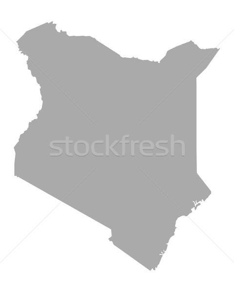 Térkép Kenya utazás vektor izolált illusztráció Stock fotó © rbiedermann
