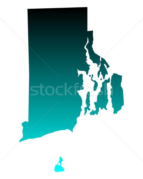 Mapa Rhode Island verde azul viajar américa Foto stock © rbiedermann