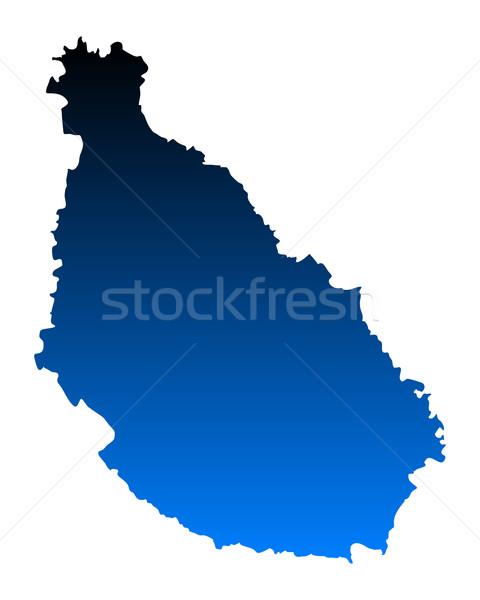 地図 サンティアゴ 青 ベクトル 孤立した 実例 ストックフォト © rbiedermann