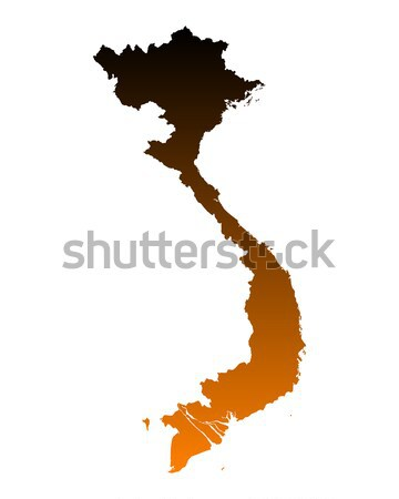 Map of Vietnam Stock photo © rbiedermann