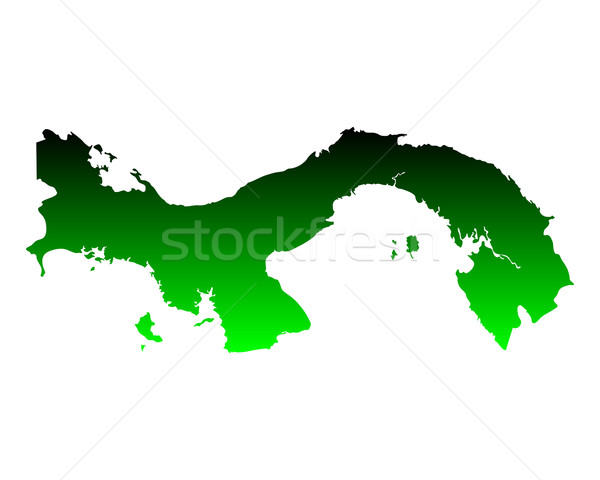 地図 パナマ 緑 ベクトル 孤立した ストックフォト © rbiedermann