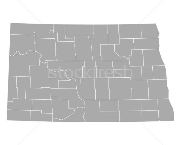 Kaart North Dakota achtergrond lijn USA vector Stockfoto © rbiedermann
