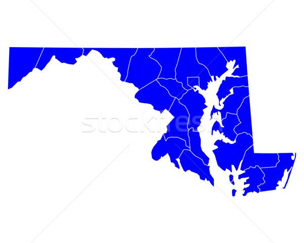 карта Мэриленд синий путешествия США изолированный Сток-фото © rbiedermann