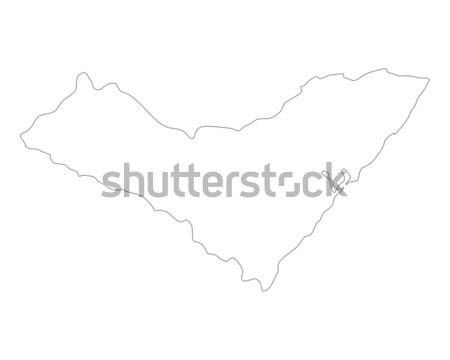 Harita Brezilya yalıtılmış örnek gri gri Stok fotoğraf © rbiedermann