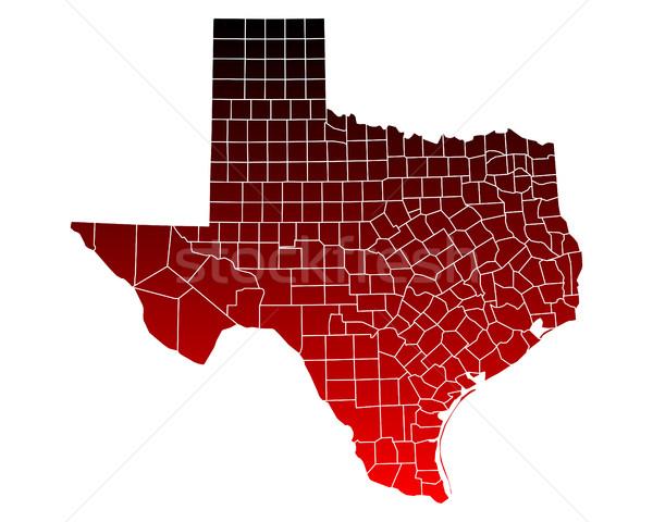 Térkép Texas utazás piros USA izolált Stock fotó © rbiedermann
