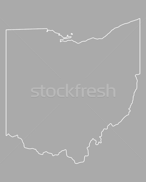 Kaart Ohio USA vector geïsoleerd illustratie Stockfoto © rbiedermann