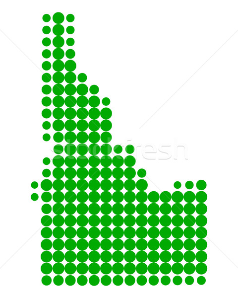 Mapa Idaho verde padrão américa círculo Foto stock © rbiedermann