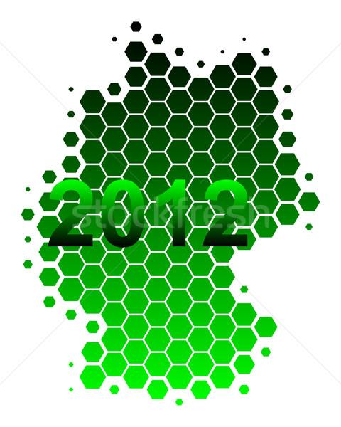 Mapa Alemania 2012 fondo verde viaje Foto stock © rbiedermann