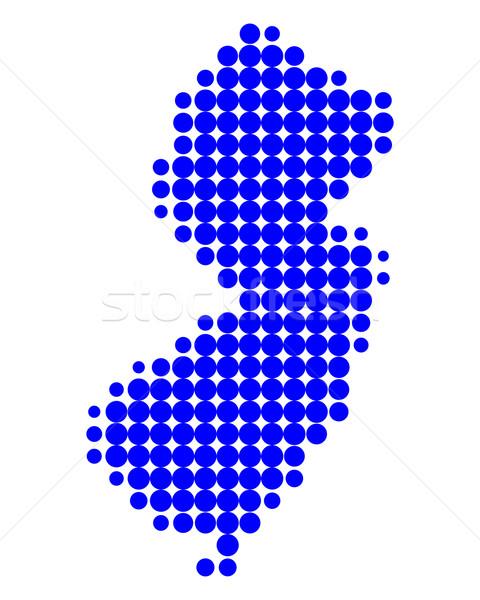карта Нью-Джерси синий шаблон Америки круга Сток-фото © rbiedermann