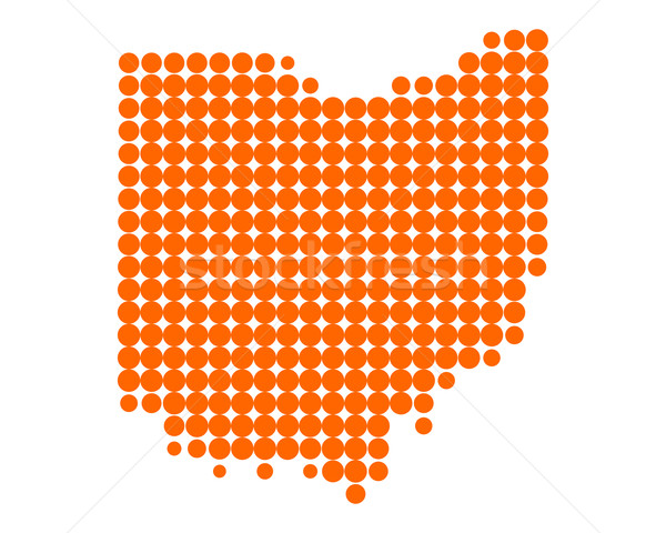 Harita Ohio model Amerika daire ABD Stok fotoğraf © rbiedermann