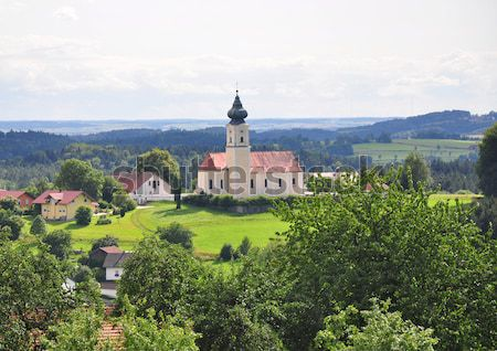 Curch Saint Stephanus in Lalling, Bavaria Stock photo © rbiedermann