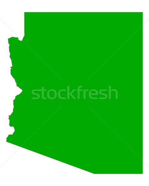 карта Аризона зеленый путешествия Америки США Сток-фото © rbiedermann