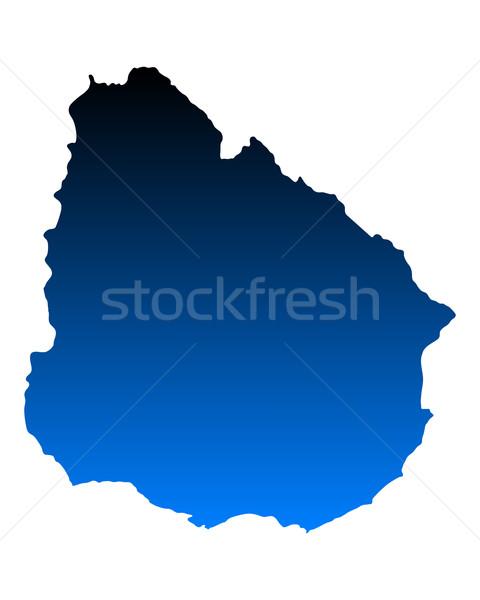 Térkép Uruguay kék vektor izolált Stock fotó © rbiedermann