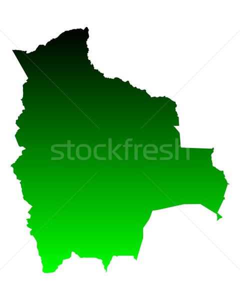 地図 ボリビア 緑 旅行 ベクトル ストックフォト © rbiedermann