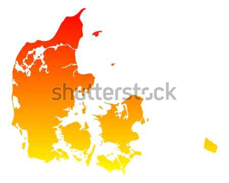 Mapa Dinamarca fundo linha vetor Foto stock © rbiedermann