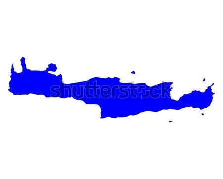 Map of Crete Stock photo © rbiedermann