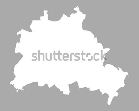 Mapa Berlín fondo línea Foto stock © rbiedermann
