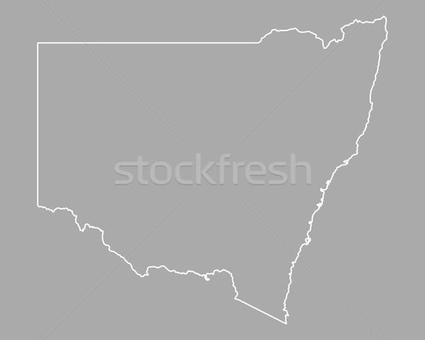 Harita yeni güney galler Avustralya yalıtılmış örnek gri Stok fotoğraf © rbiedermann