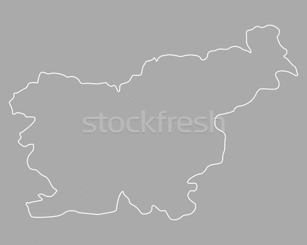 Mappa Slovenia sfondo isolato illustrazione Foto d'archivio © rbiedermann