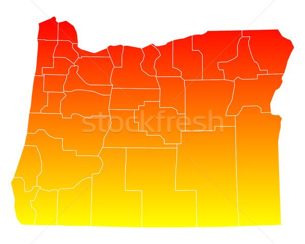 Térkép USA vektor izolált illusztráció földrajz Stock fotó © rbiedermann