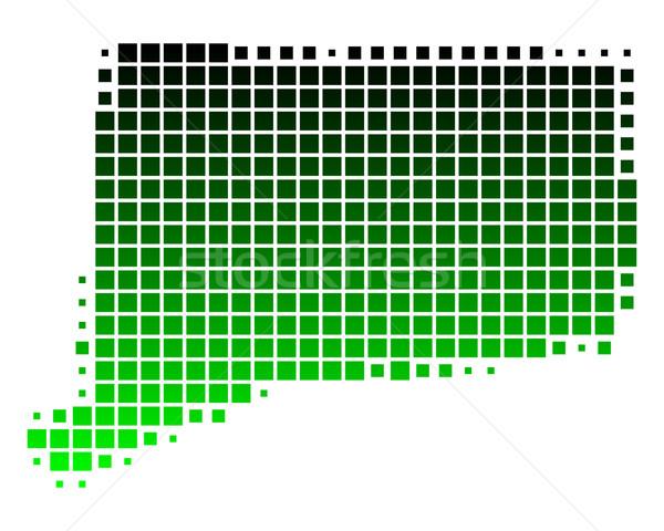 Mapa Connecticut verde padrão EUA praça Foto stock © rbiedermann