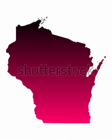 Carte Wisconsin Voyage rose Amérique USA Photo stock © rbiedermann