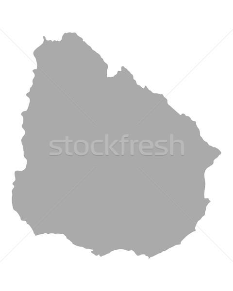 Térkép Uruguay vektor izolált illusztráció szürke Stock fotó © rbiedermann