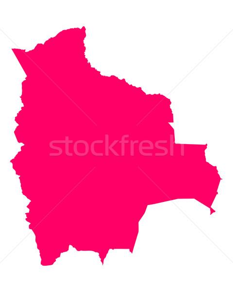 地図 ボリビア 旅行 紫色 ベクトル ストックフォト © rbiedermann