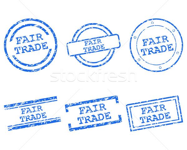 Adil ticaret pulları mektup damga grafik Stok fotoğraf © rbiedermann