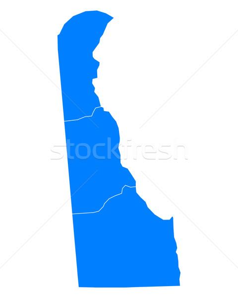 Mapa Delaware fundo azul linha vetor Foto stock © rbiedermann
