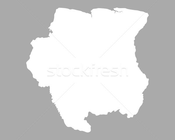 карта Суринам фон изолированный иллюстрация Сток-фото © rbiedermann