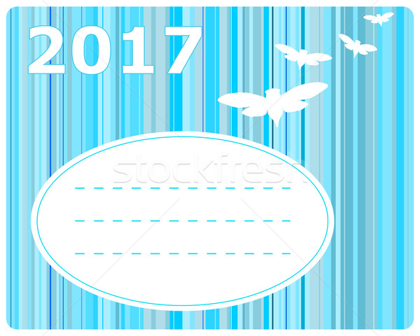 Greeting card 2017 Stock photo © rbiedermann