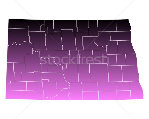 Harita kuzey pembe Amerika Birleşik Devletleri vektör yalıtılmış Stok fotoğraf © rbiedermann