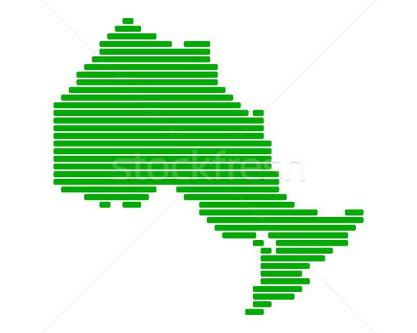 Térkép Ontario zöld vonal vonalak pont Stock fotó © rbiedermann