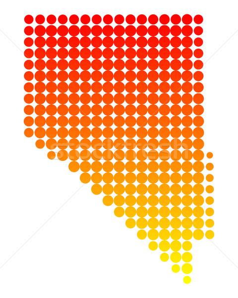 Pokaż Nevada wzór Ameryki kółko USA Zdjęcia stock © rbiedermann