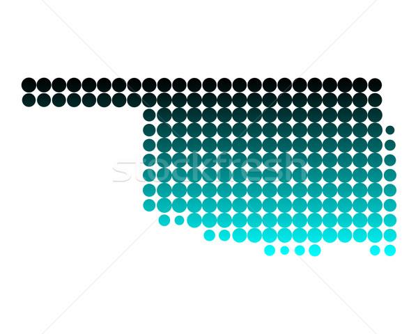 Mapa Oklahoma verde padrão américa círculo Foto stock © rbiedermann