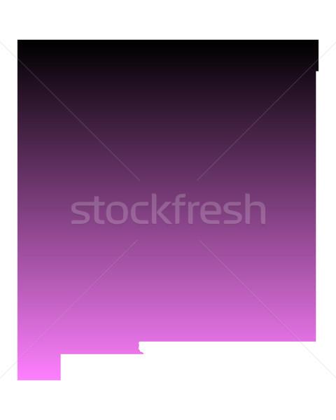 Kaart New Mexico reizen roze amerika USA Stockfoto © rbiedermann