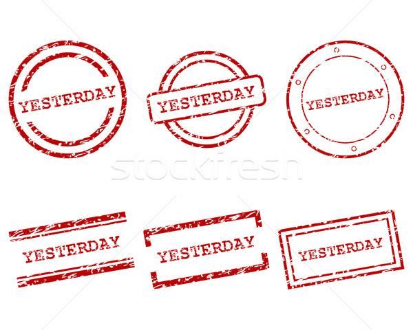 Ieri francobolli design lettera timbro tag Foto d'archivio © rbiedermann