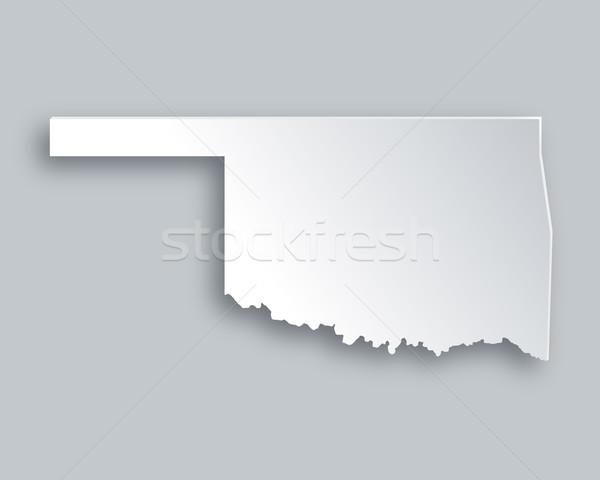 Carte Oklahoma papier fond Voyage île Photo stock © rbiedermann