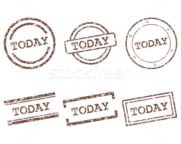 Hoje selos carimbo gráfico membro selar Foto stock © rbiedermann