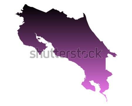 Mapa Costa Rica azul vector aislado Foto stock © rbiedermann