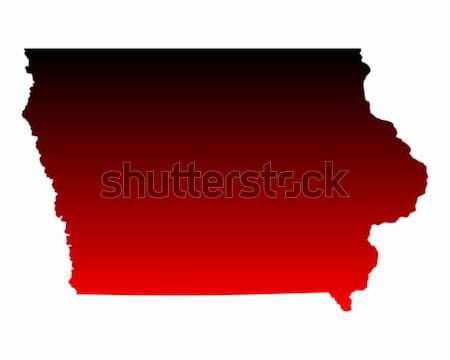 Harita Iowa seyahat kırmızı Amerika ABD Stok fotoğraf © rbiedermann