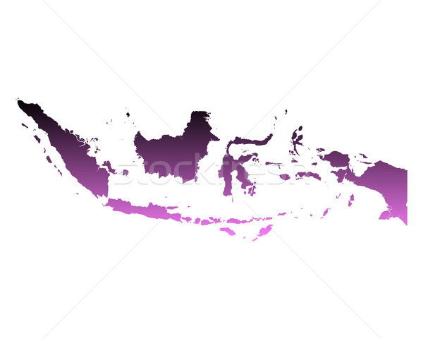 Map of Indonesia Stock photo © rbiedermann