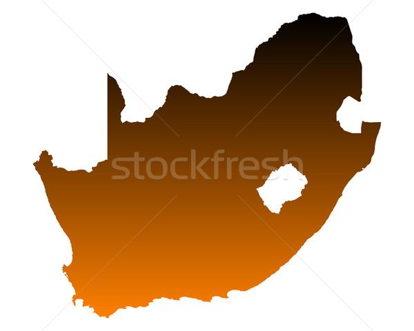 карта ЮАР фон линия вектора Сток-фото © rbiedermann