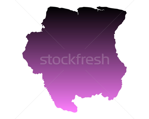 Сток-фото: карта · Суринам · розовый · вектора · изолированный