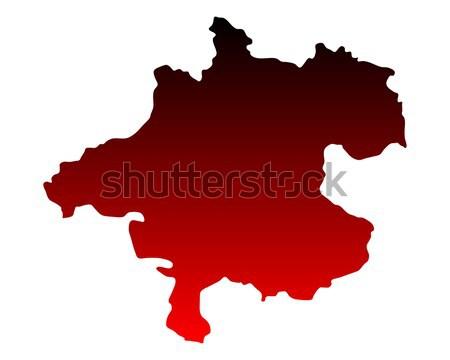 Harita Avusturya vektör yalıtılmış örnek coğrafya Stok fotoğraf © rbiedermann