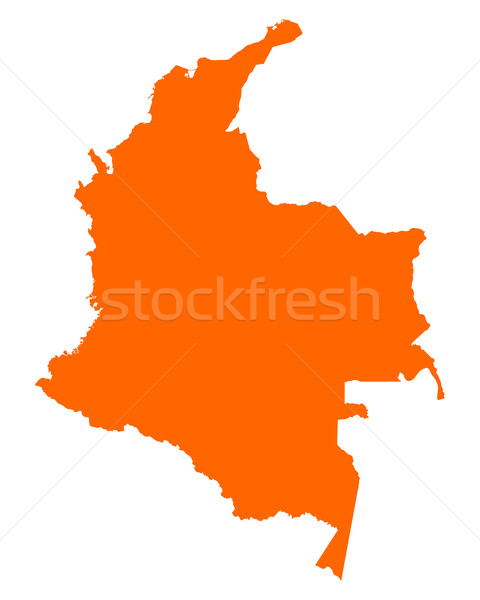 Map of Colombia Stock photo © rbiedermann