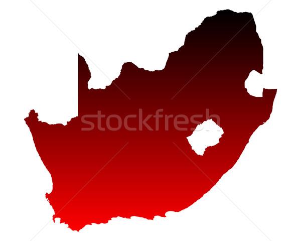 Kaart South Africa Rood vector geïsoleerd illustratie Stockfoto © rbiedermann