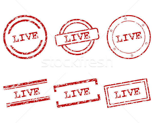 Live stamps Stock photo © rbiedermann