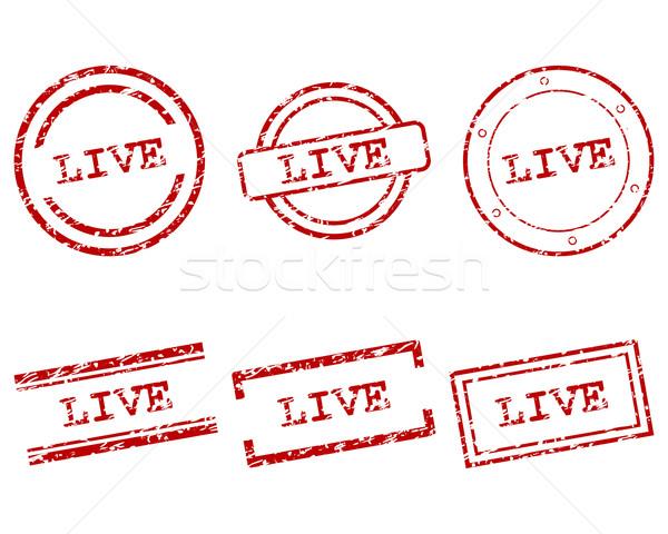 Viver selos negócio carimbo gráfico venda Foto stock © rbiedermann